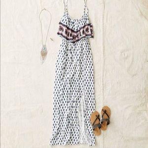 AMERICAN EAGLE boho Paisley bandana maxi dress